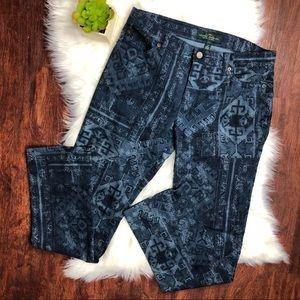 LRL Lauren Jeans Co. Aztec Print Jeans